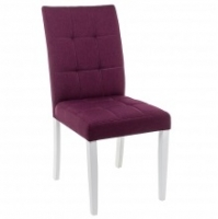 Стул Woodville Madina white / fabric purple