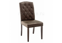 Стул Woodville Menson dark walnut / fabric brown