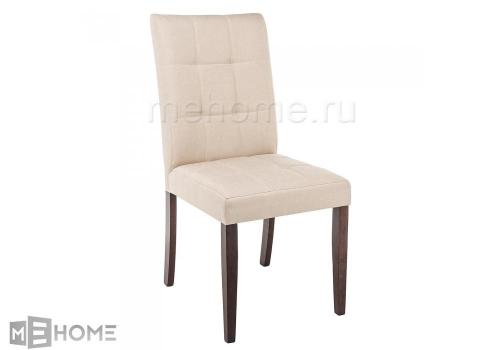 Фото Стул Woodville Madina dark walnut / fabric cream