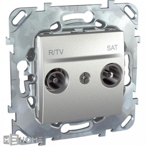 Фото Розетка R-TV/SAT проходная Schneider Electric Unica MGU5.456.30ZD
